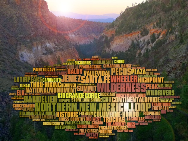 Places of the Northern New Mexico Loop (click for full size)